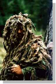 GI in ghillie suit